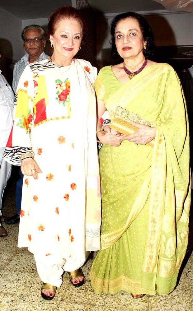 Saira Banu with veteran actress Asha Parekh at Dilip Kumar's grand birthday bash. #Fashion #Style #Bollywood #Beauty