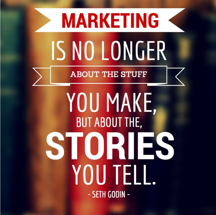 """Marketing is no longer about the stuff you make, but about the stories you tell."" ~Seth Godin And visuals are an integral part of storytelling!"