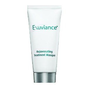 Exuviance Rejuvenating Treatment Masque is a AHA/PHA peel-off masque that can help fight multiple signs of aging, making skin truly rejuvenated. An exclusive blend of alpha and polyhydroxy acids (AHA/PHA), including gluconolactone and mandelic acid, provides anti-aging benefits, helping exfoliate and enhance cell renewal. Gluconolactone and vitamins A, C and E leave the skin lightly hydrated and conditioned, with added antioxidant protection against future signs of aging