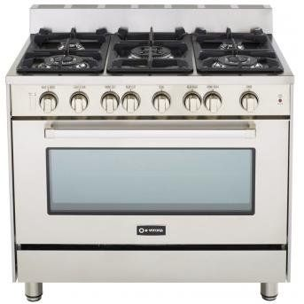 Verona 36 All Gas Range SS 36 Single Oven Gas Range. 5 Sealed Gas Burners. Full Function Convection Oven. Infrared Broiler. 304 Stainless Steel.  #GE #MajorAppliances