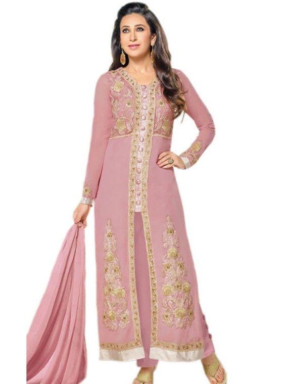 Exceptional Light Baby Pink Karishma Kapoor salwaar suit