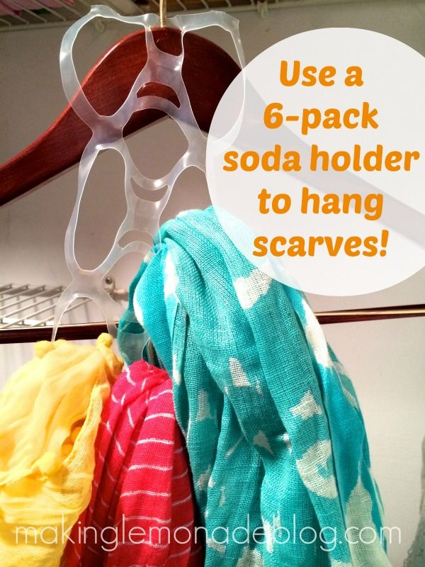 A FREE item to organize scarves? YES!  Click over for 6 GREAT tips for organizing your closets in about an hour!