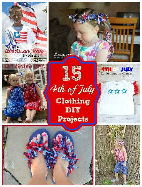 15 Patriotic DIY Clothing Tutorials for the 4th of July via Free Time Frolics #4thofjuly #diy #tutorial