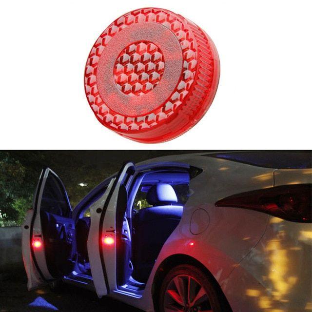 2PCS 5LED Super bright Car Door Opened Warning Light Safety Wireless Lamp