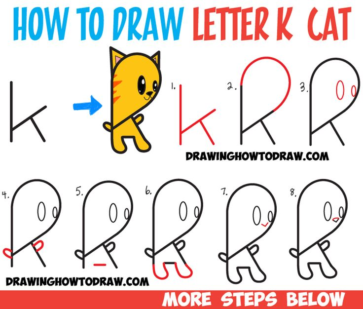 Cartoon Characters 7 Letters : Best drawing with letters numbers and words for kids