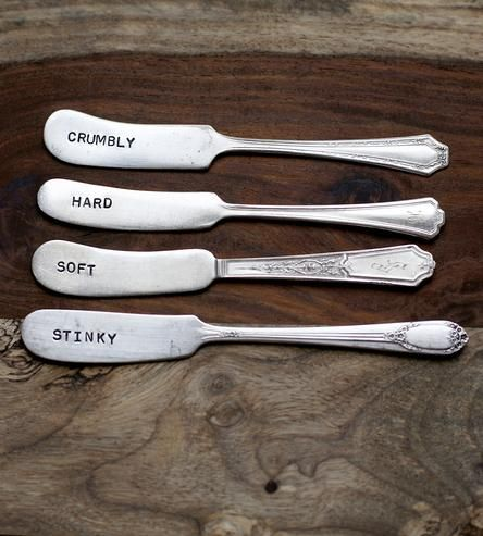 Vintage Stamped Cheese Spreader Knives – Set of 4 by Woodenhive on Scoutmob Shoppe