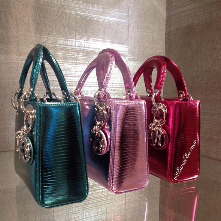 Metallic mini Lady Dior