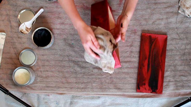 Annie sloan chalk paint tutorial: colour distressing with dark wax+flore...