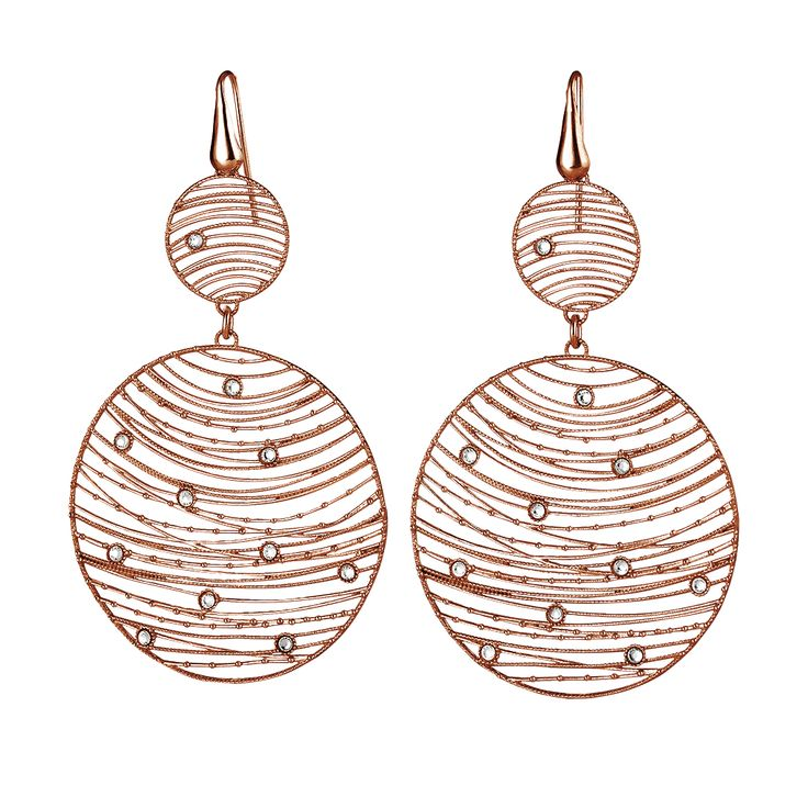 Oxette Rose Gold Silver 925 Earrings - Available here http://www.oxette.gr/kosmimata/skoularikia/silver-earrings-rose-gold-plated-2-rnd-cz-oxette-552l-1/  #oxette #OXETTEearrings #jewellery