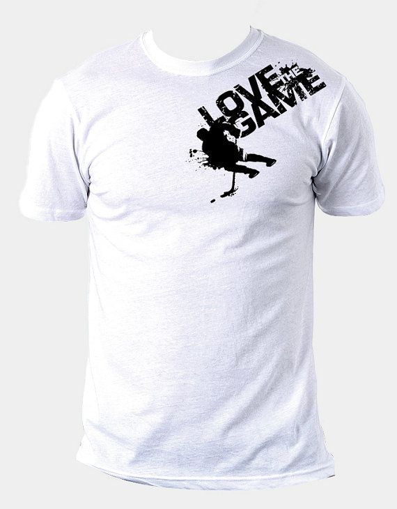 Love the Game  Hockey Tee by MPGDesign on Etsy,