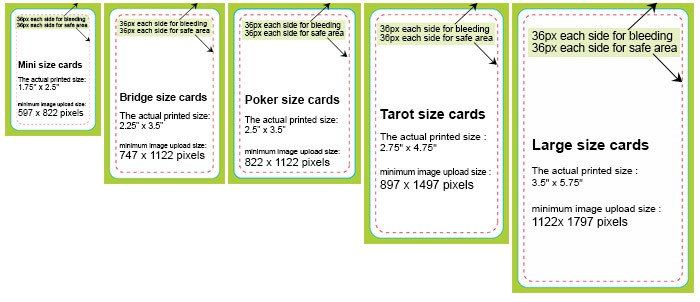 Playing Card Size Template The Card Specifics Card Sizes Playing Cards Cards