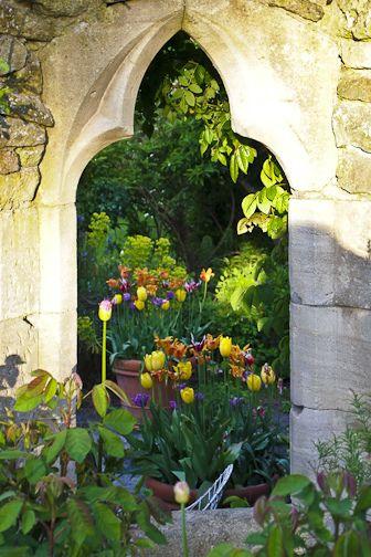 Hanham Court gardens, UK