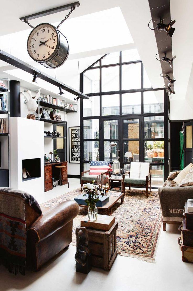 76 best living room images on pinterest living room for Warehouse living space