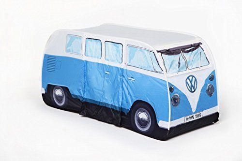 VW Volkswagen T1 Camper Van Kids Pop-Up Play Tent - Blue