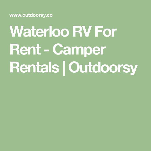 Waterloo RV For Rent - Camper Rentals | Outdoorsy