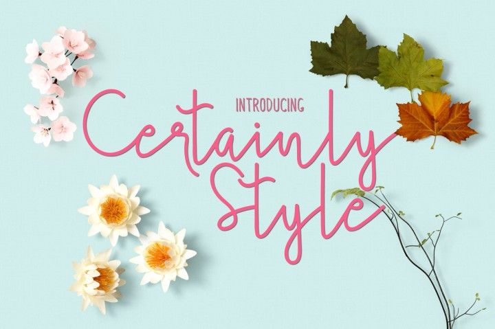 Certainly Style is a gorgeous sans serif font that will easily become a modern and classic typeface in your design. It featured to help you to uses for Lettering Concept, Script Logo, Labeling, Logo, Clothing, Movie title, Comic title, gigs or album cover. Certainly Style available in .OTF and .TTF formats. Please contact me if you have any questions about it atjcloth