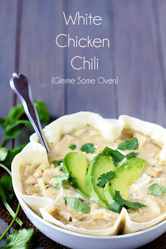 White Chicken Chili | gimmesomeoven.com