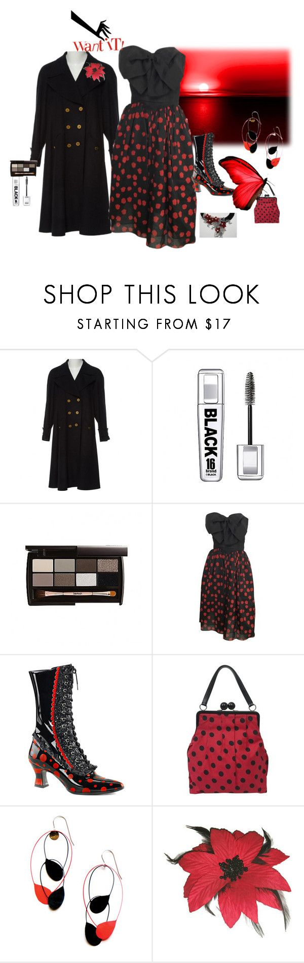 """""""Vintage Bill Blass Dress and Chanel Cashmere Coat"""" by mkdetail ❤ liked on Polyvore featuring Chanel, Bill Blass, Funtasma, Moschino and vintage"""