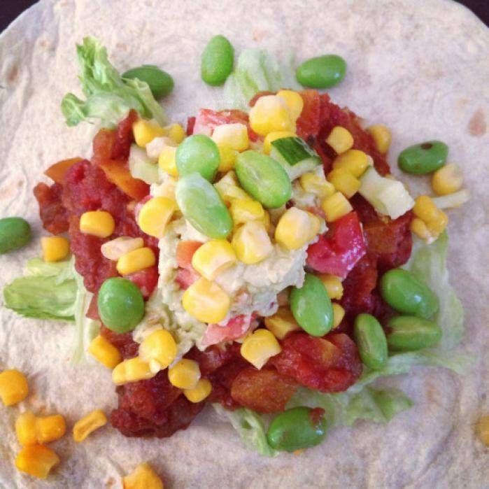 Vegetariska tacos med bönor