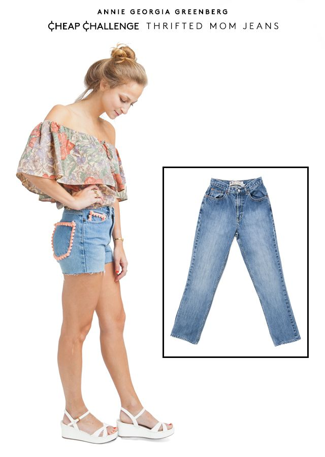 """7 Badass Cutoffs You Can Totally DIY #refinery29  http://www.refinery29.com/denim-shorts#slide1  Annie Georgia Greenberg, senior style editor Cheap Challenge: Thrifted Mom Jeans  """"I'm gonna be honest: For me, this wasn't a fairytale in DIYing. I went to the Goodwill thrift store by my parents' house in New Jersey, which is always a gold mine for clothes you want to cut up. I ended up finding a fairly '90s pair of DKNY jeans that I thought were just the right level of baggy to be made into…"""