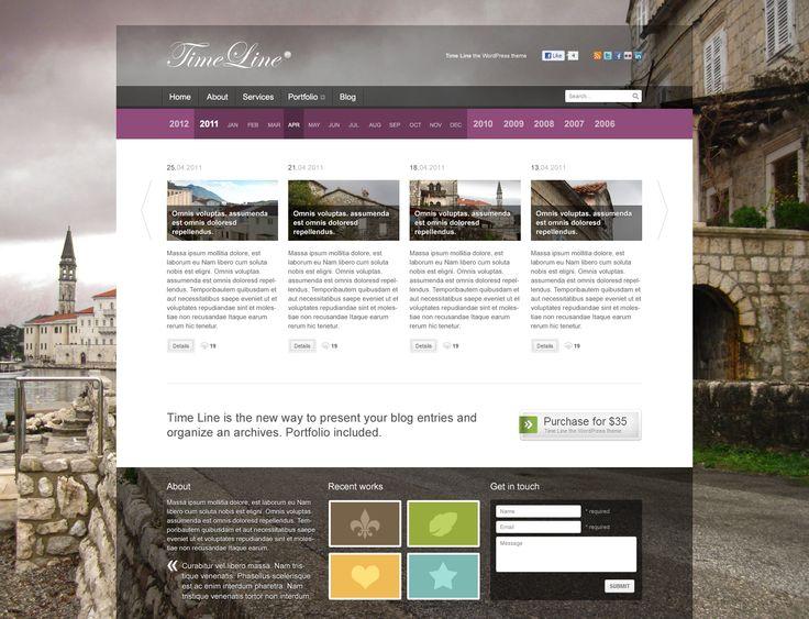 23 best Макеты сайтов в формате PSD images on Pinterest Layouts - timeline website template