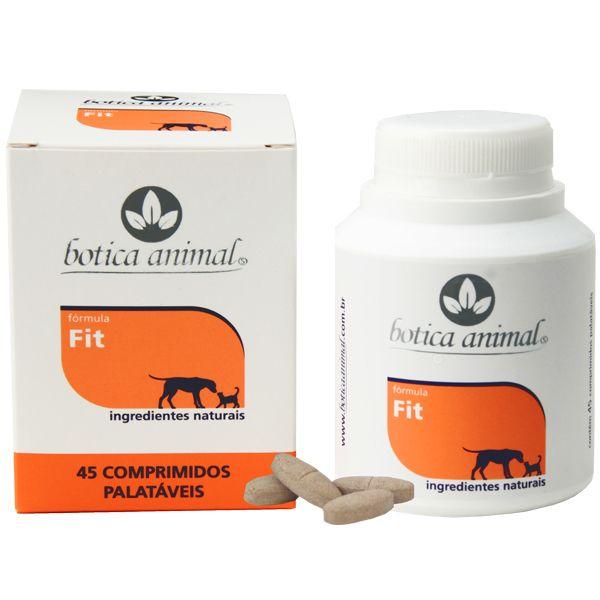 Fórmula Fit 45 Comprimidos auxilia no emagrecimento de forma natural de cães e gatos obesos