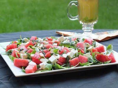 Sałatka z arbuzem i serem feta + miodowy vinegret