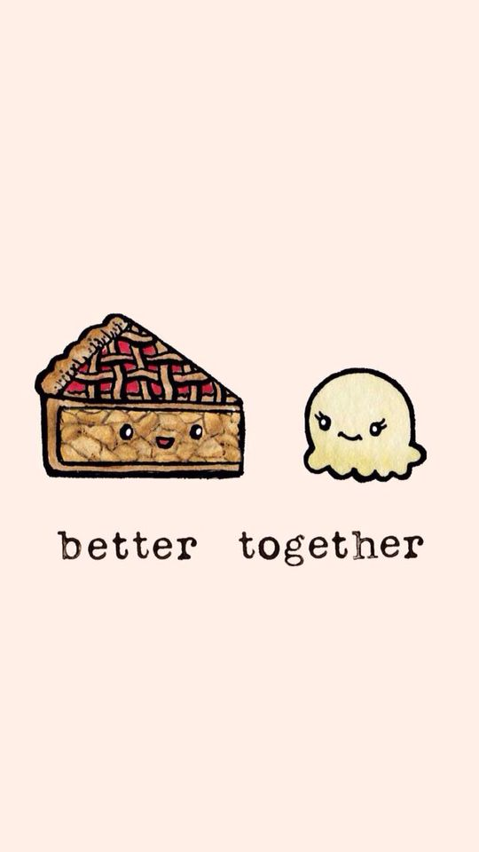 Better together - Tarta - Helado - Wallpaper