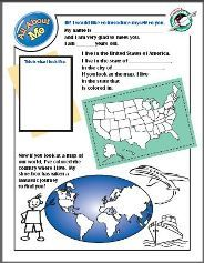 """About Me page for kids to include in their shoebox for Operation Christmas Child. Lets your child tell about themselves and include a photo and address where their new """"friend"""" can write them back."""