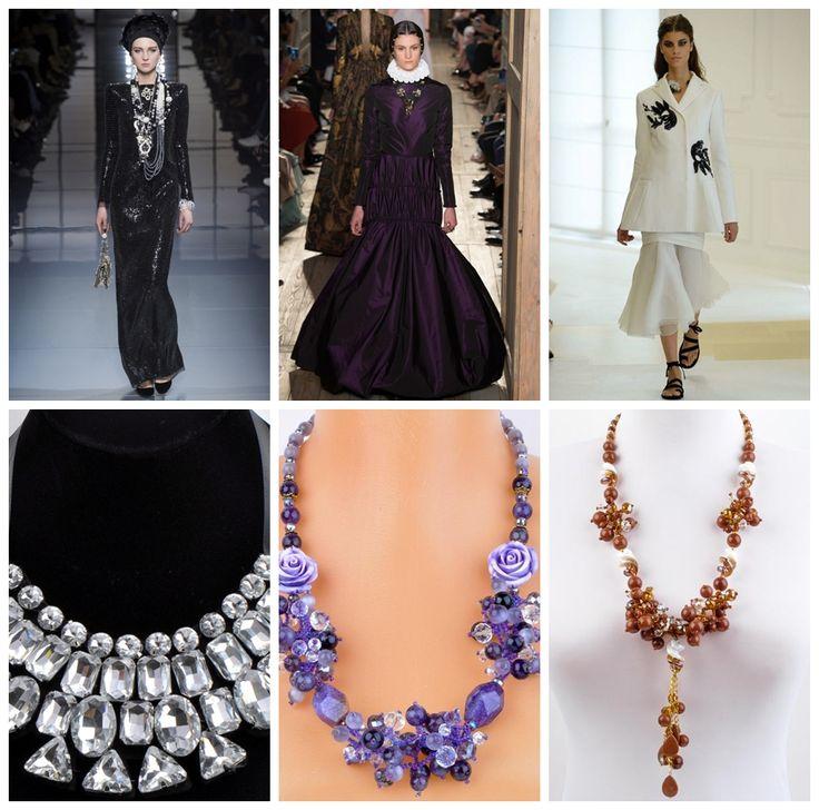 Модные аксессуары осень-зима 2016-2017: массивные ожерелья…