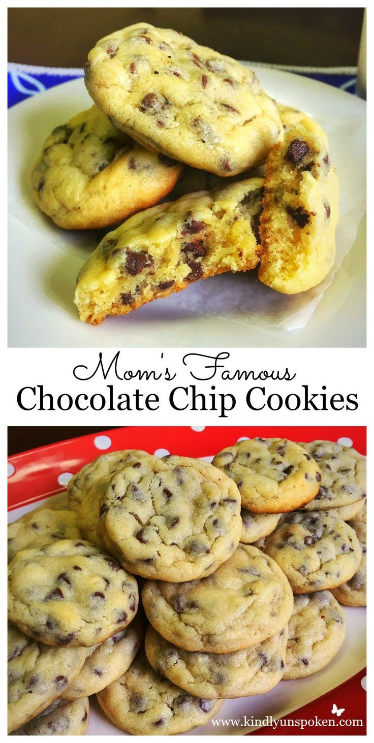 Mom's Famous Chocolate Chip Cookies // my new go-to. rich and crumbly and quicker with the self-rising flour