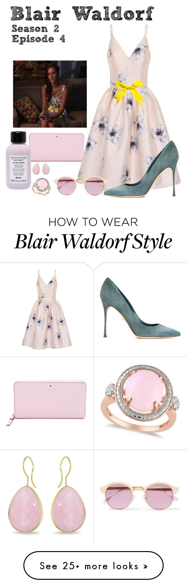 """Gossip Girl - Blair Waldorf - Season 2 Episode 4"" by deathcab4kuz on Polyvore featuring Chi Chi, Sergio Rossi, Sheriff&Cherry, Kate Spade, Davines, Ice and Allurez"