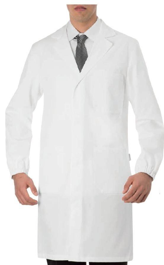 CAMICE UOMO GIBLORS COAT MEDICO IN COTONE 100% BOTTONI AUTOMATICI