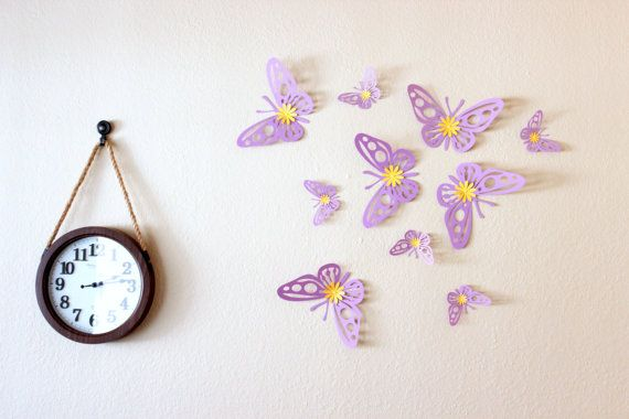 Purple wall art  Purple nursery decor  giant wall by MyDreamDecors