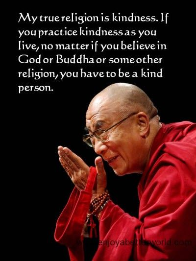 Dear Dalai Lama has it just right: Measure your success by the kindness you do! Let's all be kind to each other!