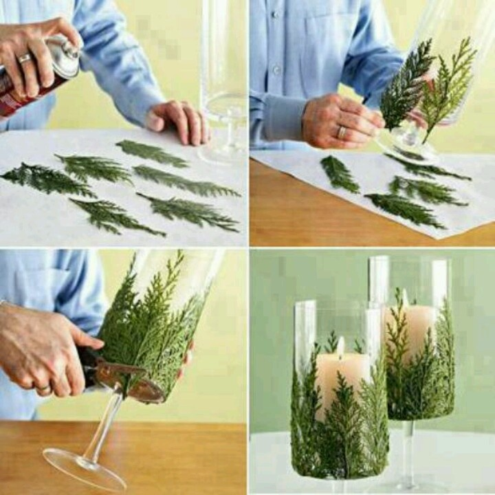 Decorate candle holders with this...