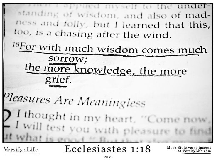 ecclesiastes 1 18 more bible verse images at www