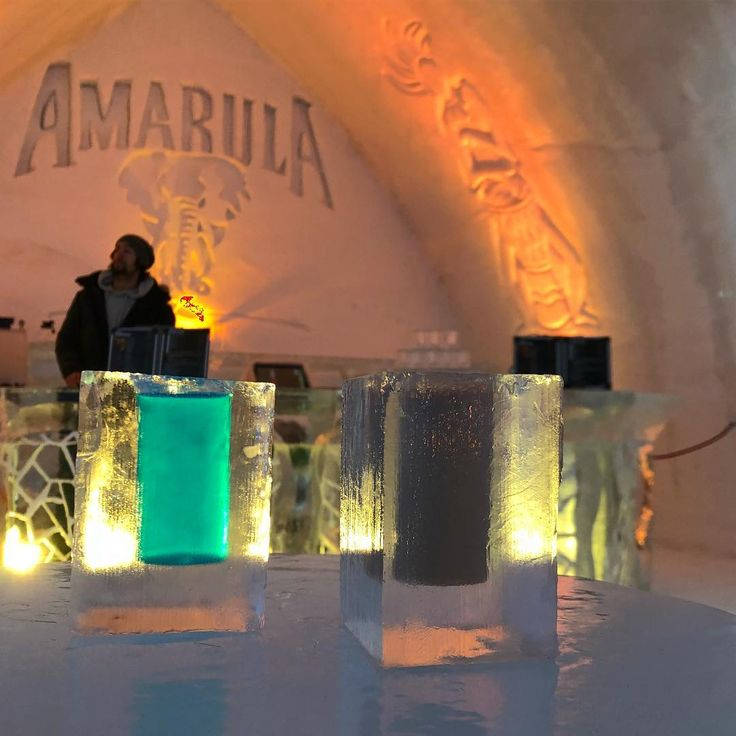 Drinking a cocktail in an iced glass definitely a once in a lifetime experince! And what an amazing bar the barmaid in me could work there with no hesitation.  #cheers #canada #quebec #city #cold #amarula #bar #barmaid #cocktails #bartender #icehotel #hoteldeglace #love #livelaughlove