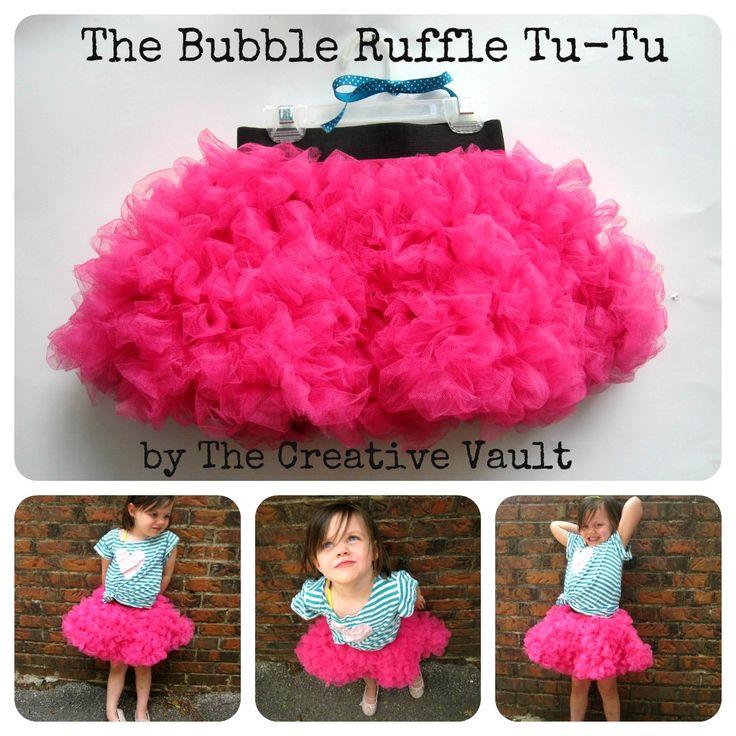 The Creative Vault is sharing her Bubble Ruffle Tu-Tu Tutorial - such a fun twist on the regular tu tu!