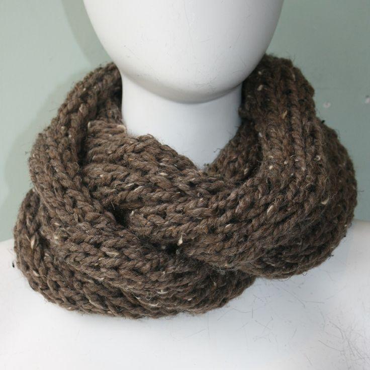 Erin Elizabeth Hand Knitted Infinity Scarf #erinelizabeth