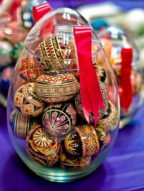 Polish Easter egg decoration (My grandma had some of these made out of wood. I loved them!)