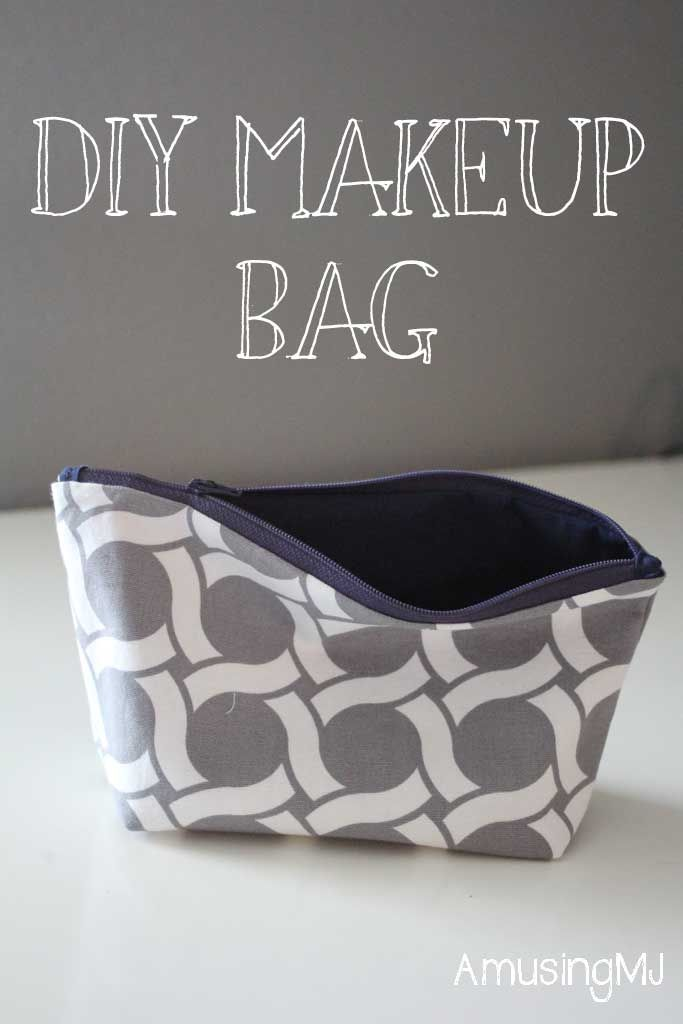 Easy sew make up bag