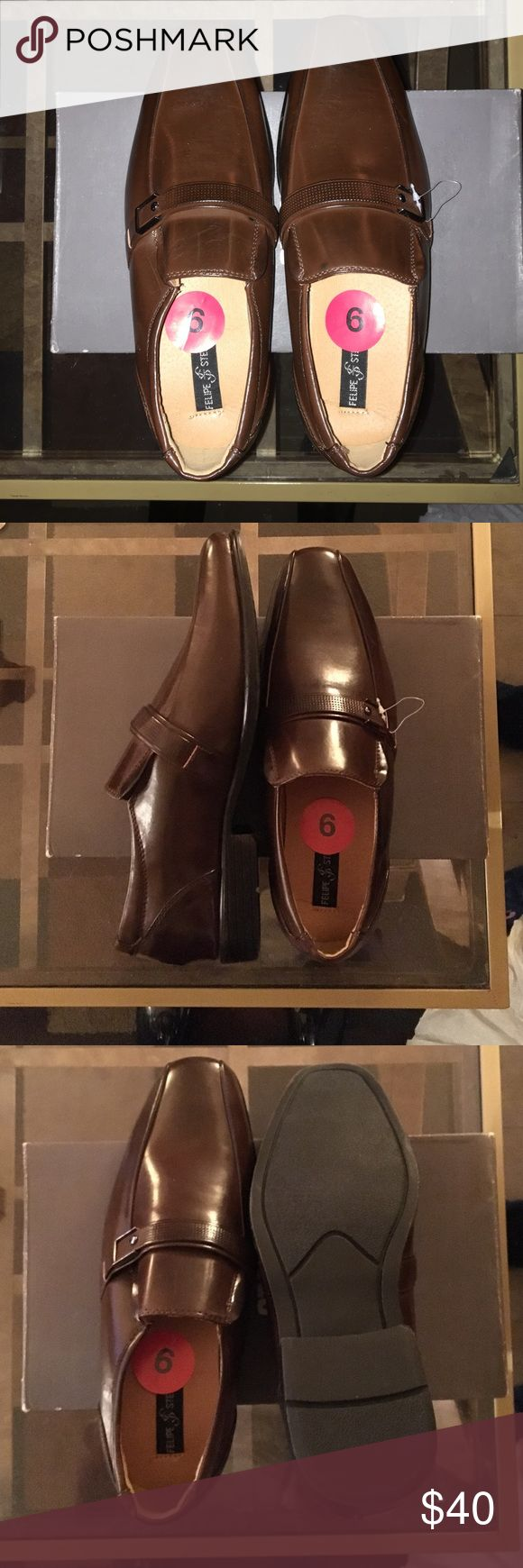 Boys Brown Dress Shoes BRAND NEW !!! Boys Brown Dress Shoes .Size 6 . Perfect for church or a family occasion Shoes Dress Shoes