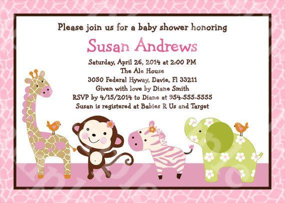 f6c63059b0172409aa0d716f2fe022cc monkey baby showers animal baby showers 89 best images about baby shower on pinterest,Girl Jungle Baby Shower Invitations