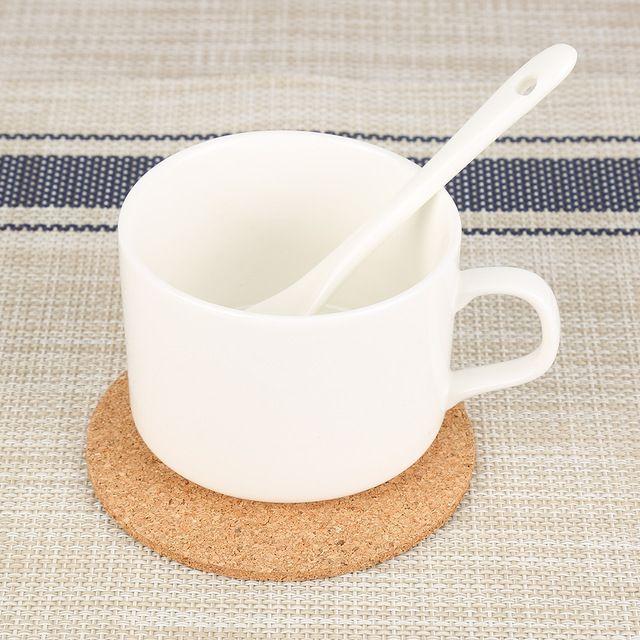 1 шт. круглый Форма плотная пробковые подставки Вино Пить кофе чайная чашка коврик стол бытовые офис ковриком посуда