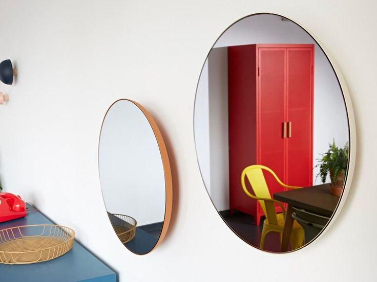 Buy online G16 | mirror By tolix, round wall-mounted framed mirror design Chantal Andriot