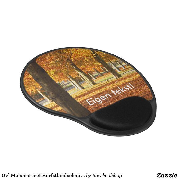 Gel Muismat met Herfstlandschap in Oldenzaal. Tekst is verwijderbaar c.q. aanpasbaar qua lettertype, kleur, grootte en locatie!