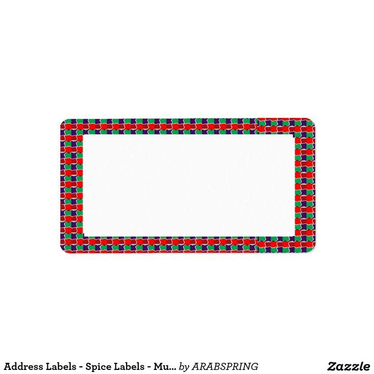 Address Labels - Spice Labels - Multiuse Labels