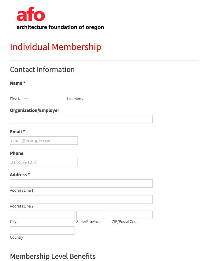 Nice layout of membership page from 3S Artspace Membership Form - membership forms templates
