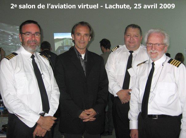 Projet tour du monde avec Pierre Fortin et son équipe, ainsi que le commandant Robert Piché au salon de l'aviation virtuelle du Québec 2009
